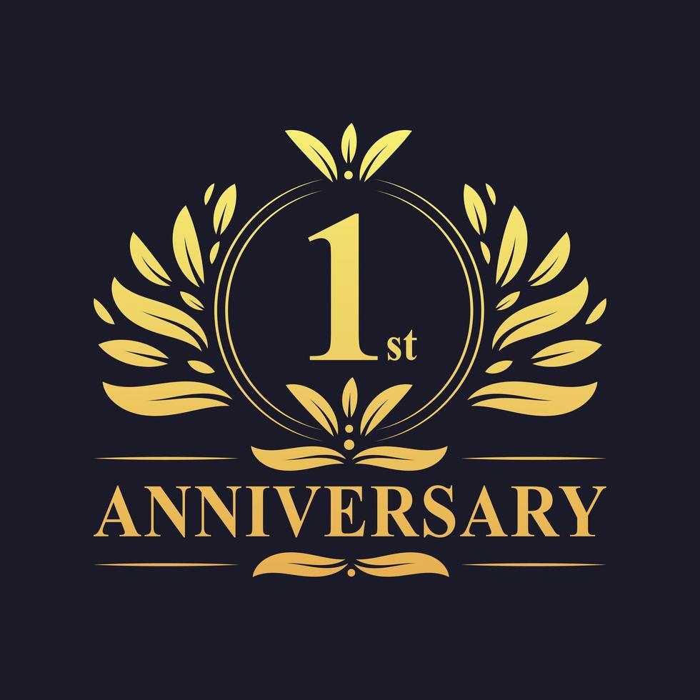 Logo 1er anniversaire vecteur