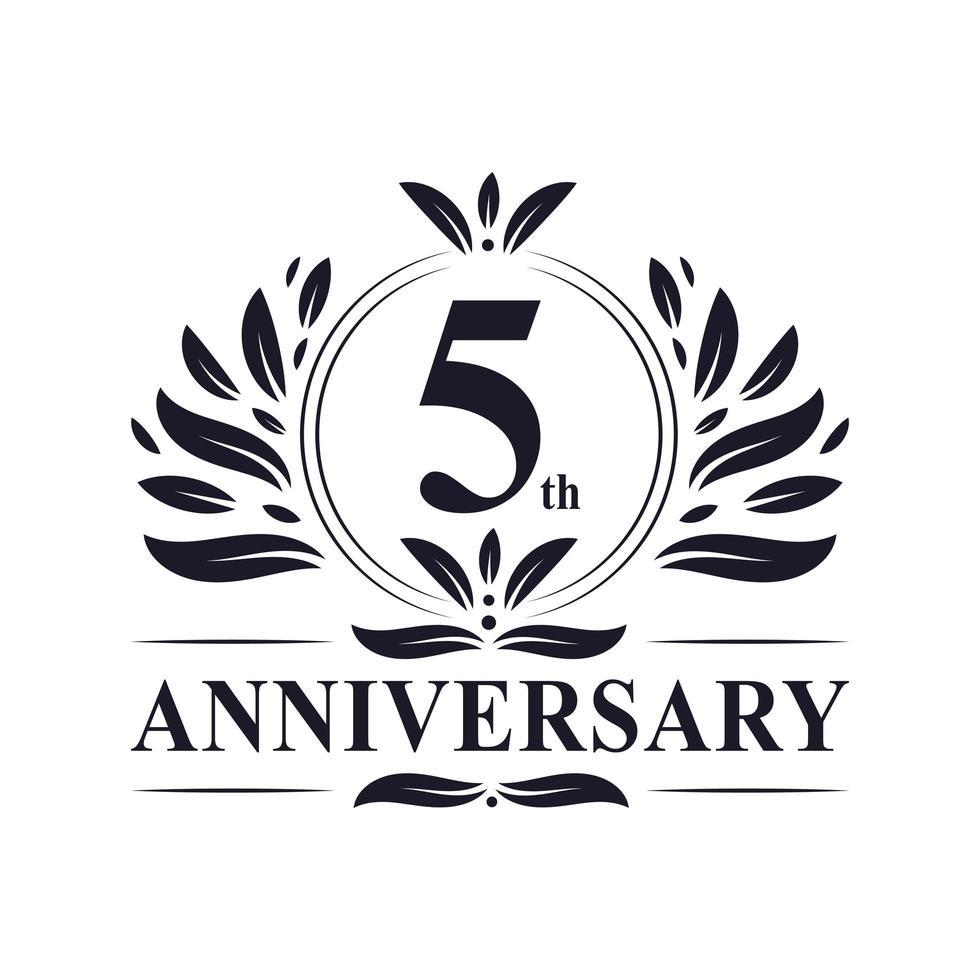 Logo du 5e anniversaire vecteur