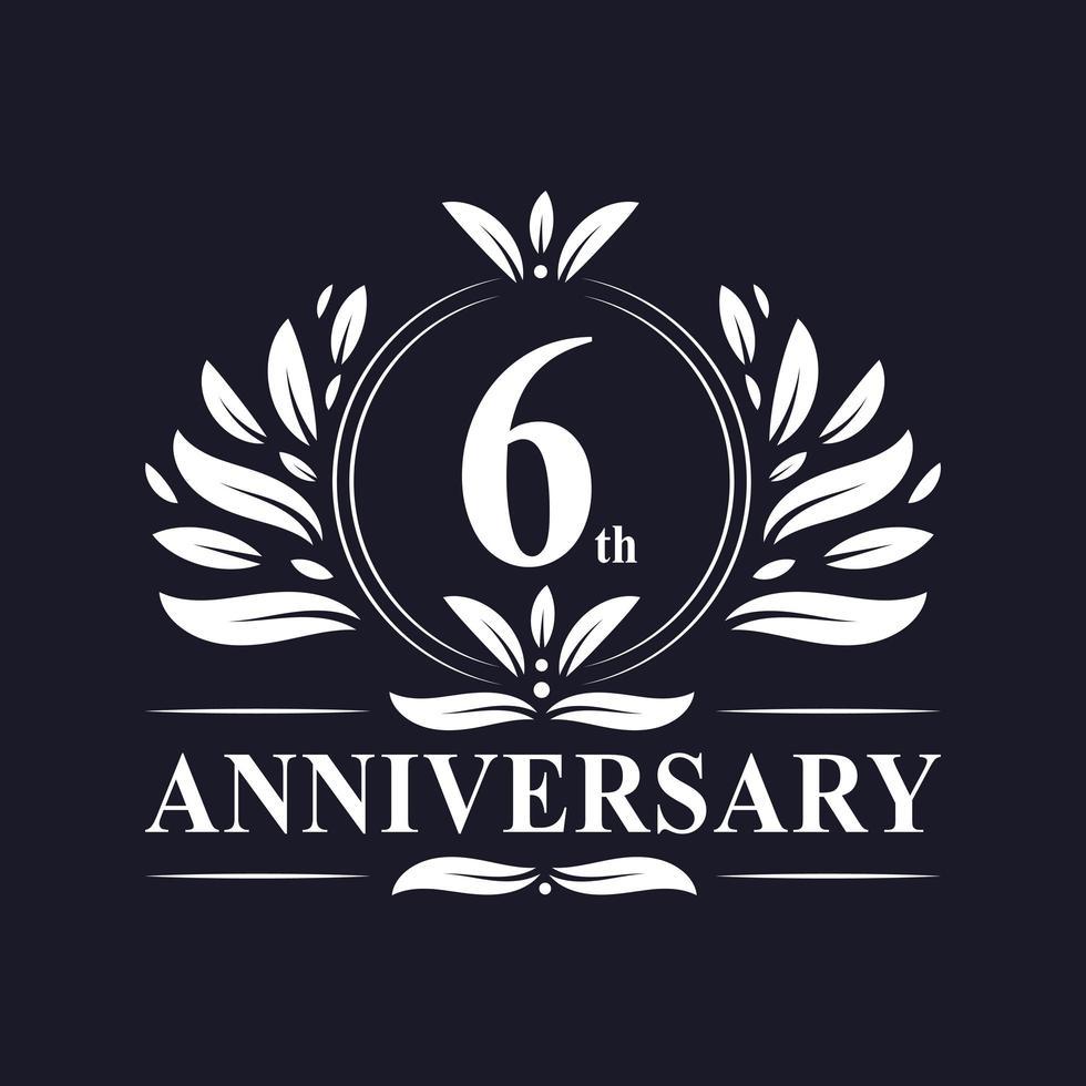 Logo du 6e anniversaire vecteur