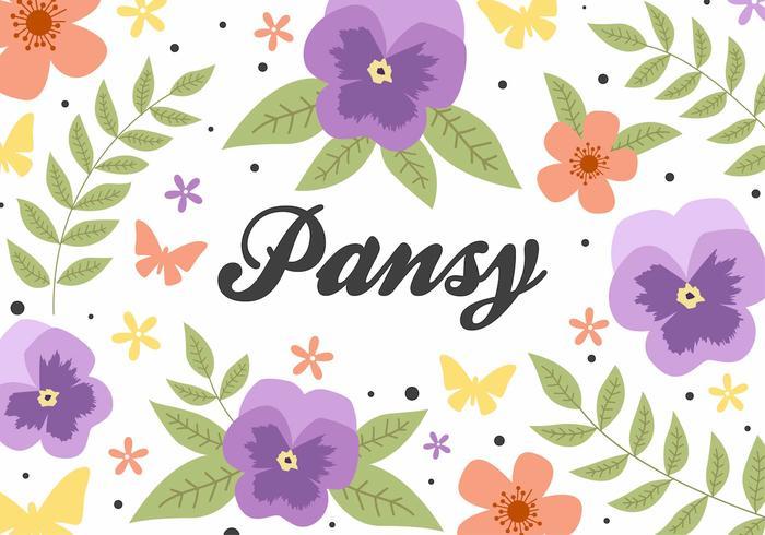 Vecteur de fond libre de fleurs pansy