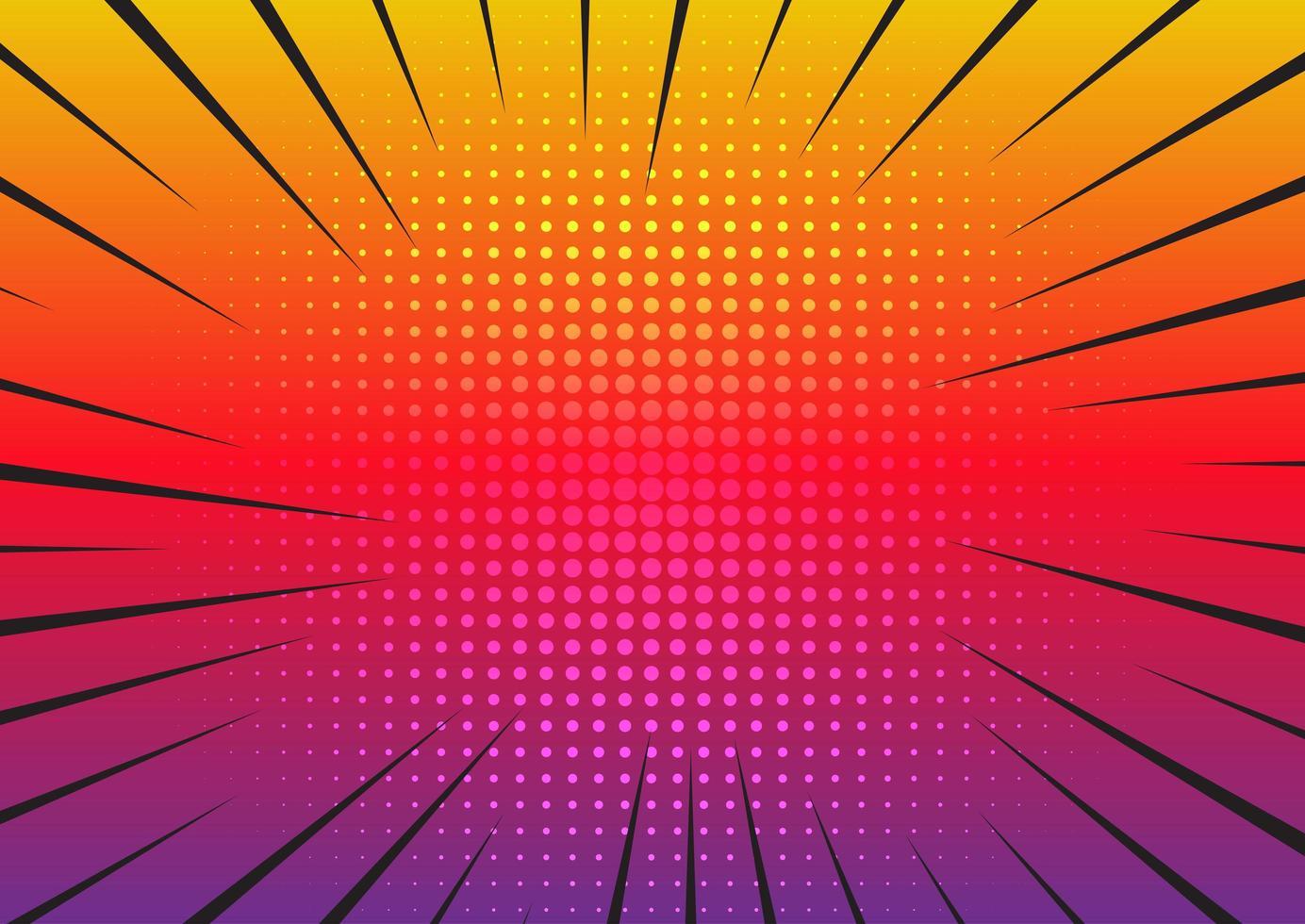starburst dégradé rétro vecteur