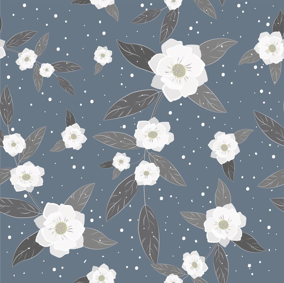 fond transparent beau motif floral blanc vecteur