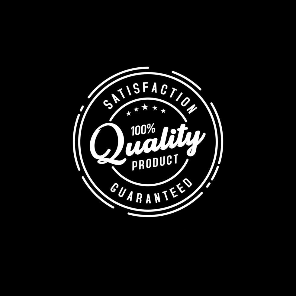 tampon produit de qualité garantie vecteur