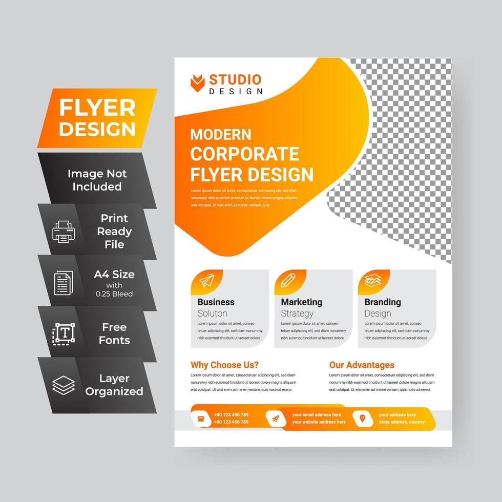 conception de modèle pour flyer d'entreprise vecteur