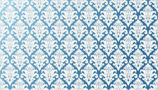 papier peint bleu en filigrane orné vecteur