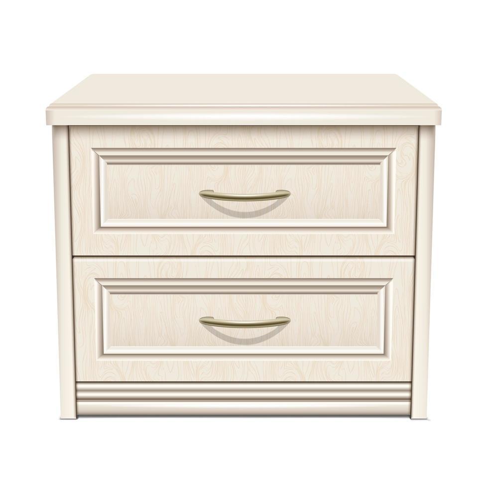 table de chevet blanche vecteur