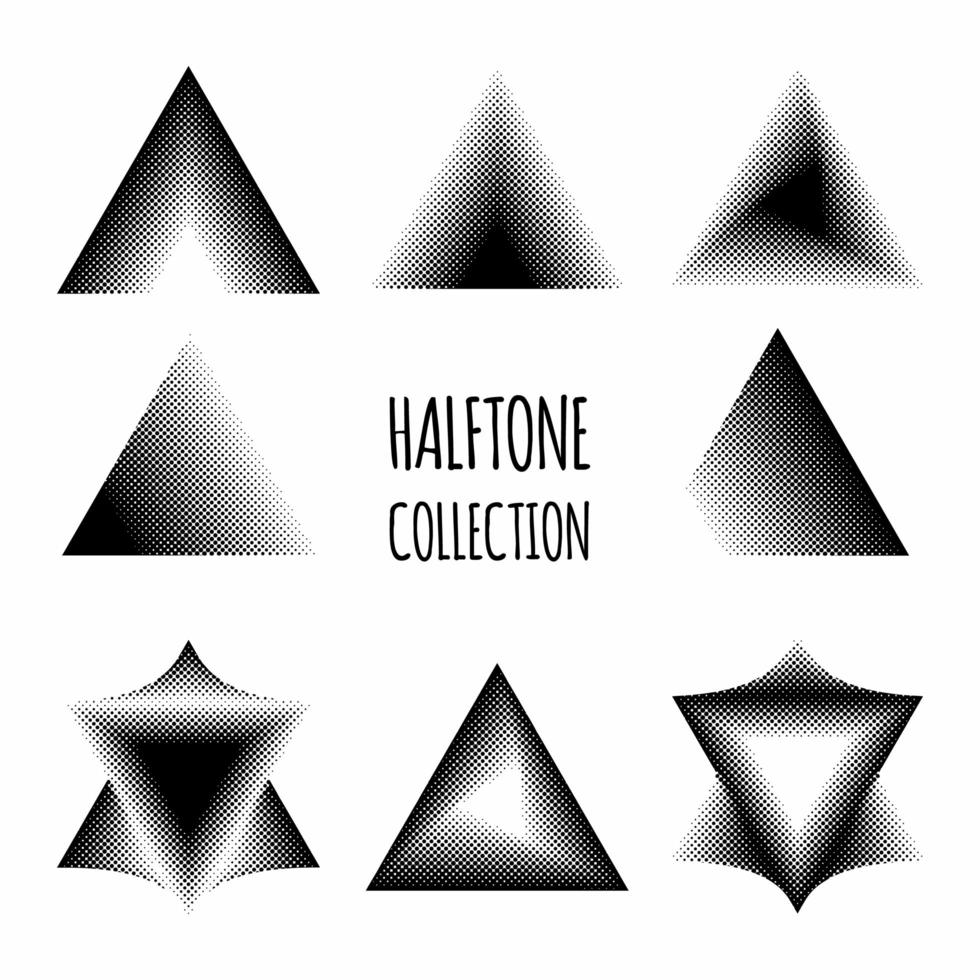 collection de motifs en demi-teintes vecteur