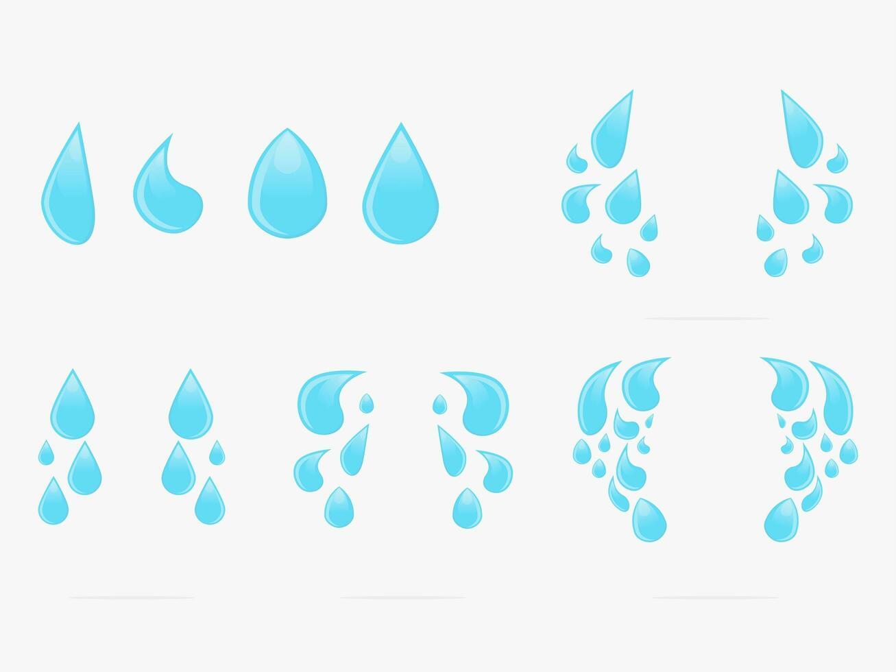 ensemble de gouttes d'eau vecteur