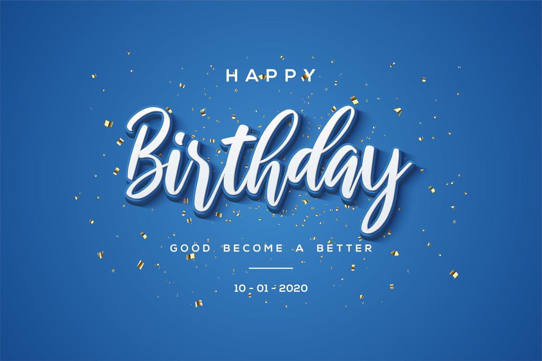 fond d'anniversaire bleu '' joyeux anniversaire '' vecteur