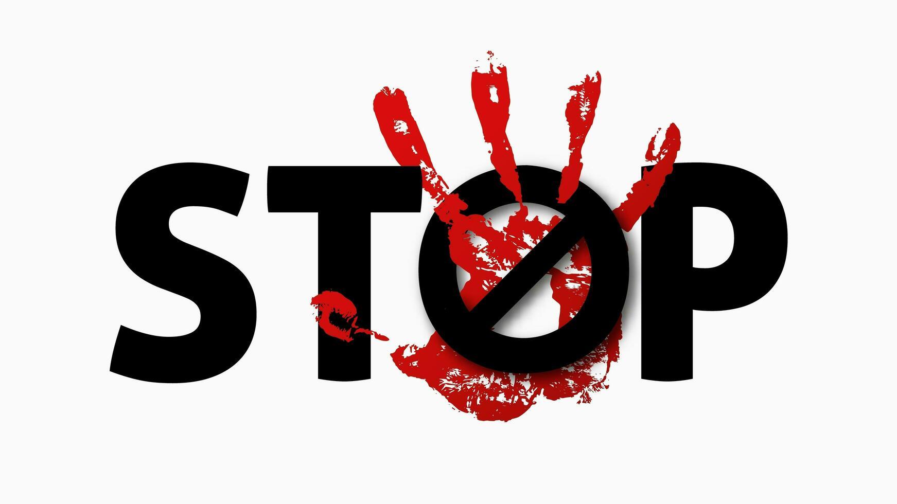 Arrêter le signe du harcèlement vecteur