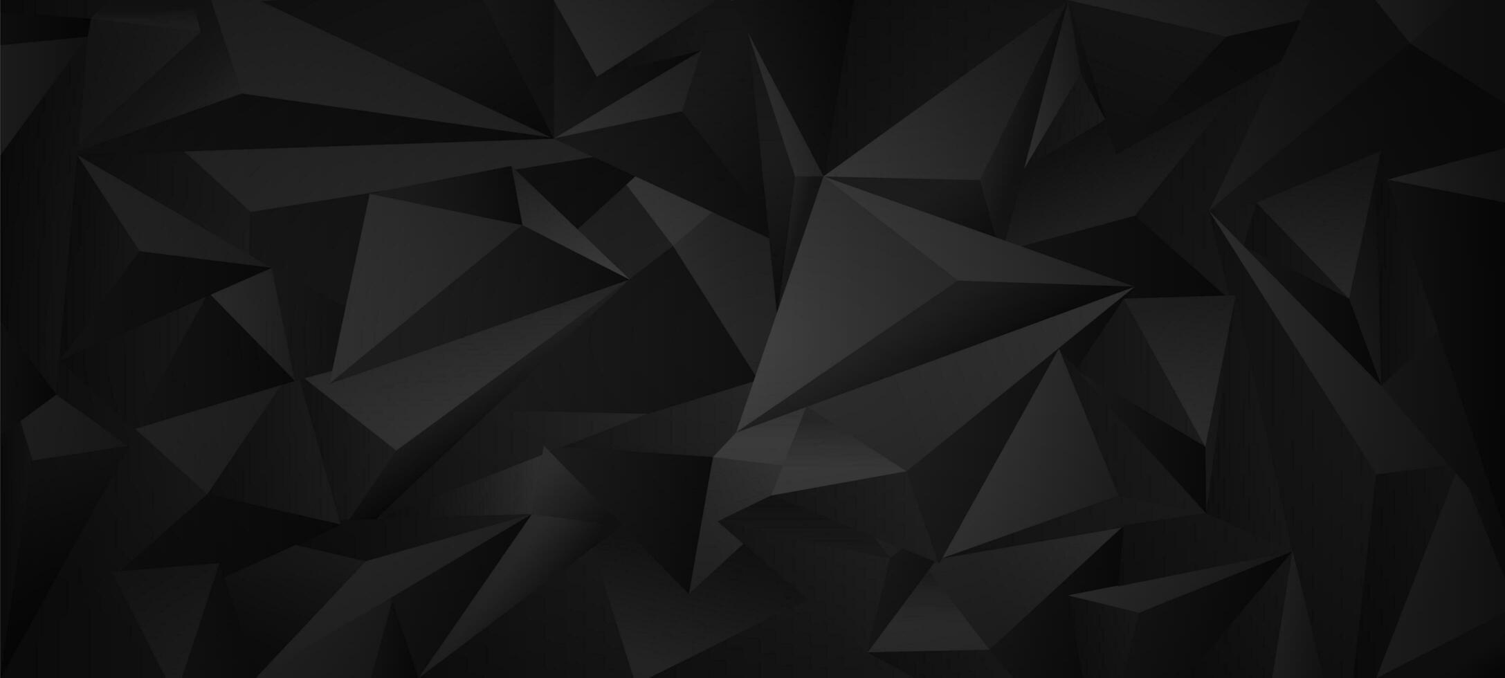 fond géométrique noir low poly. vecteur