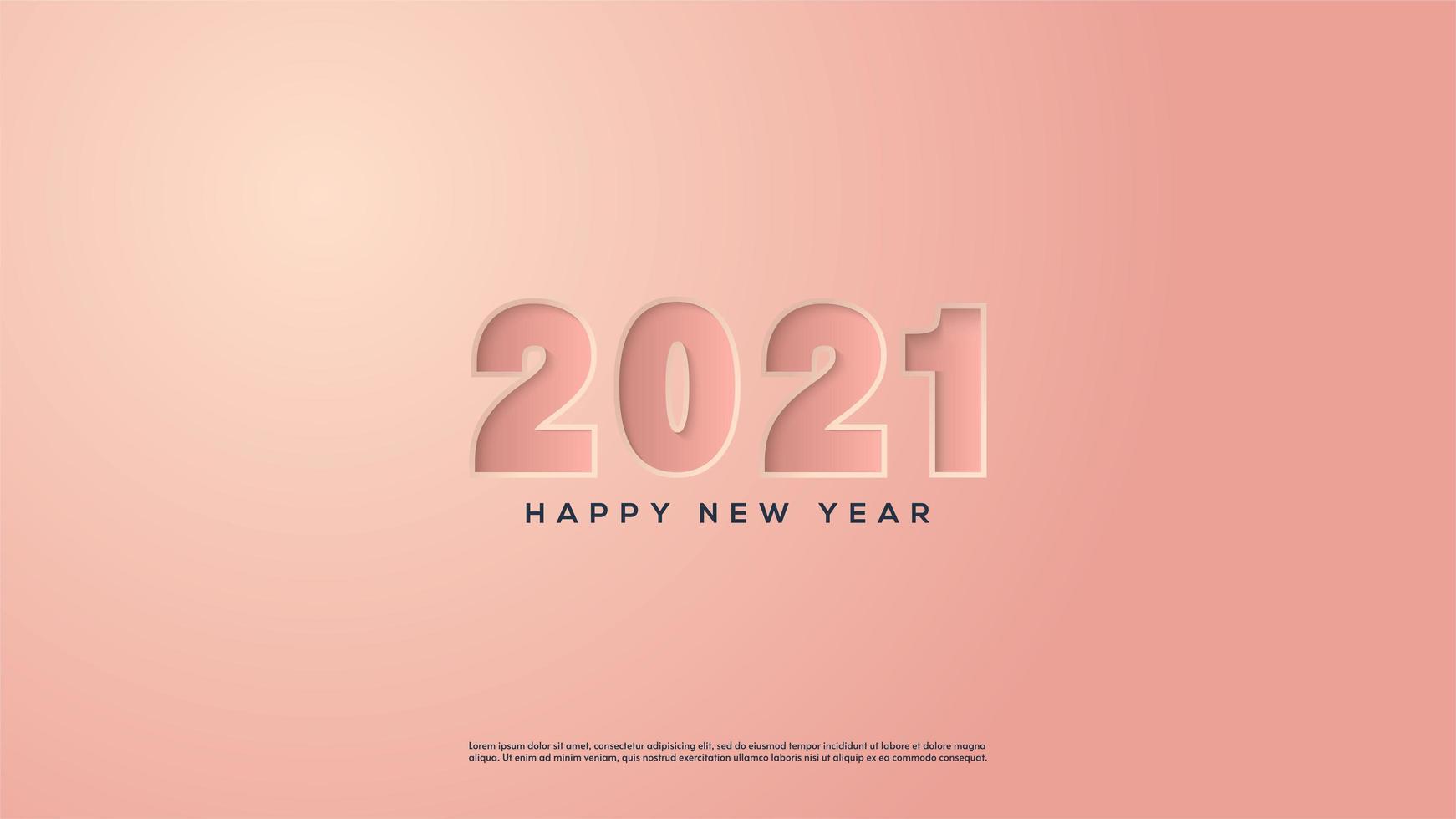 fond 2021 avec des chiffres roses vecteur