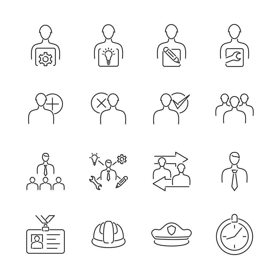 utilisateur d'icône de ligne ou profil par profession vecteur