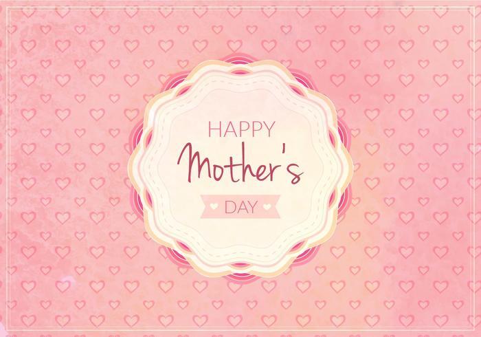 Vecteur libre heureuse maman journée illustration