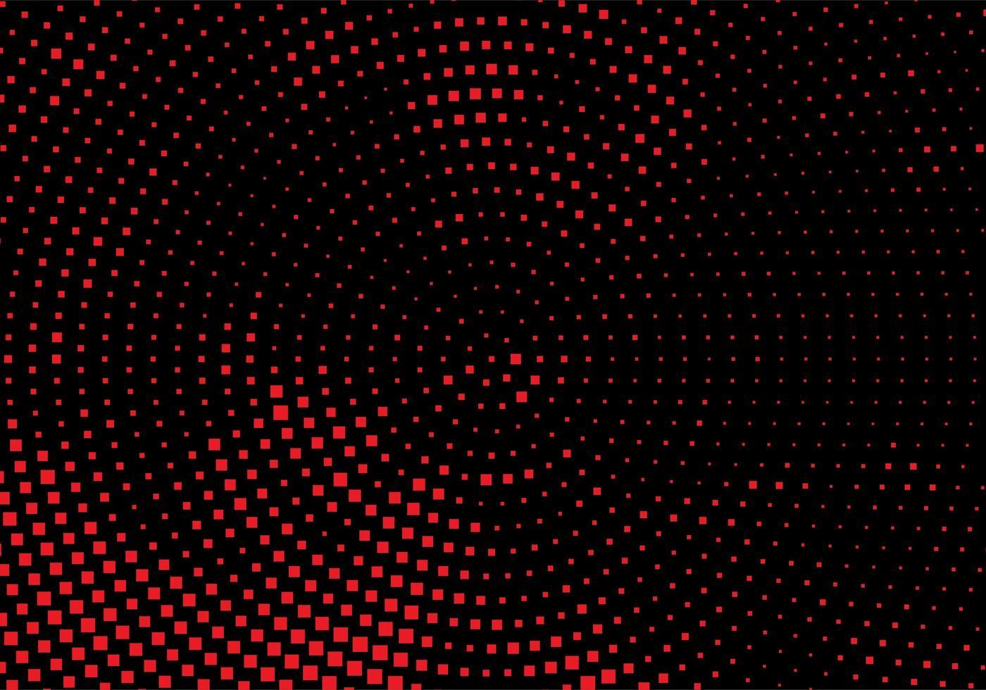 fond pointillé circulaire rouge et noir moderne vecteur
