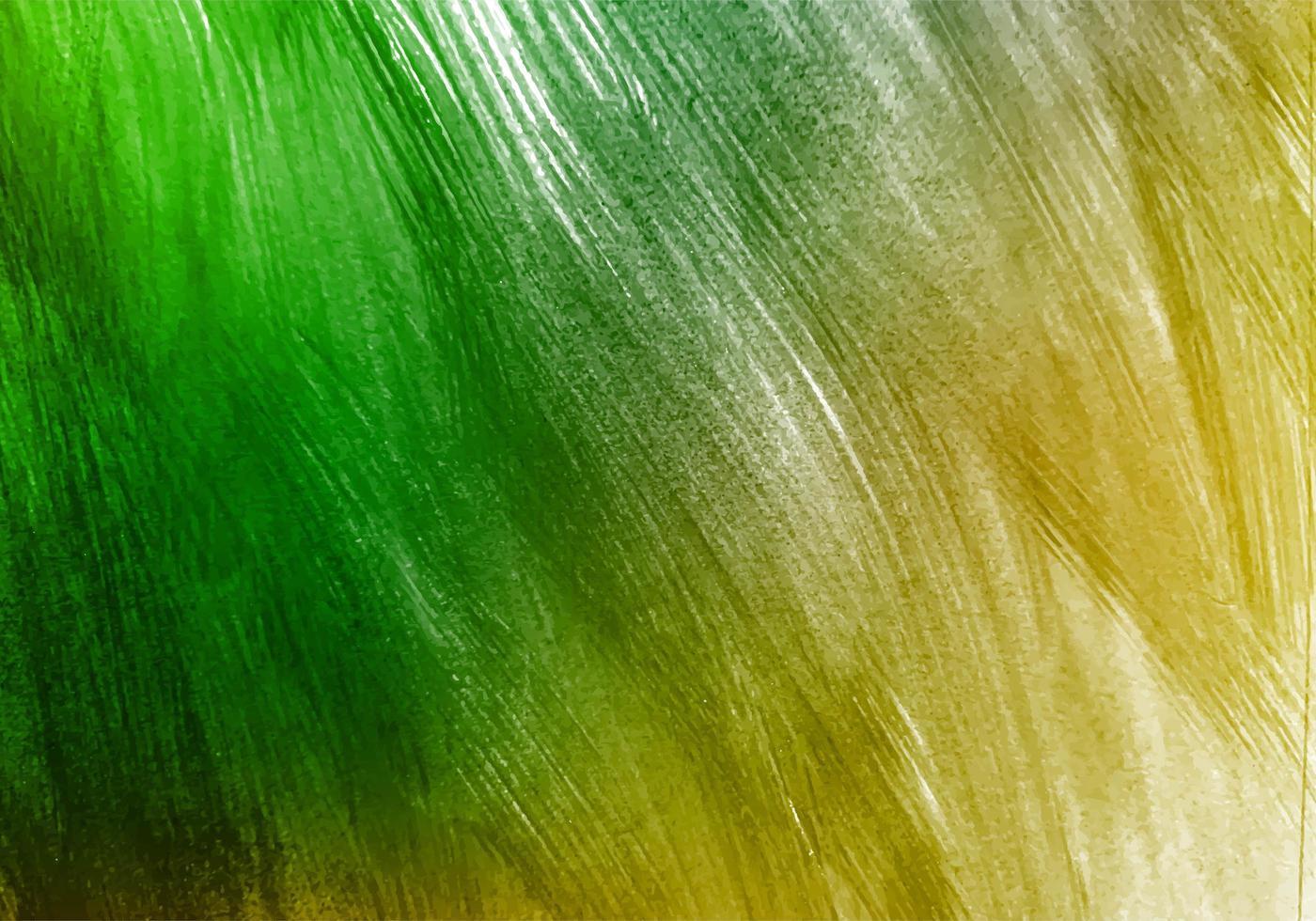 fond de texture de coup de pinceau aquarelle verte vecteur