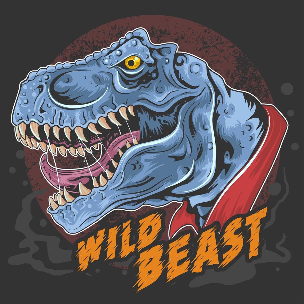 bête de dinosaure t-rex vecteur