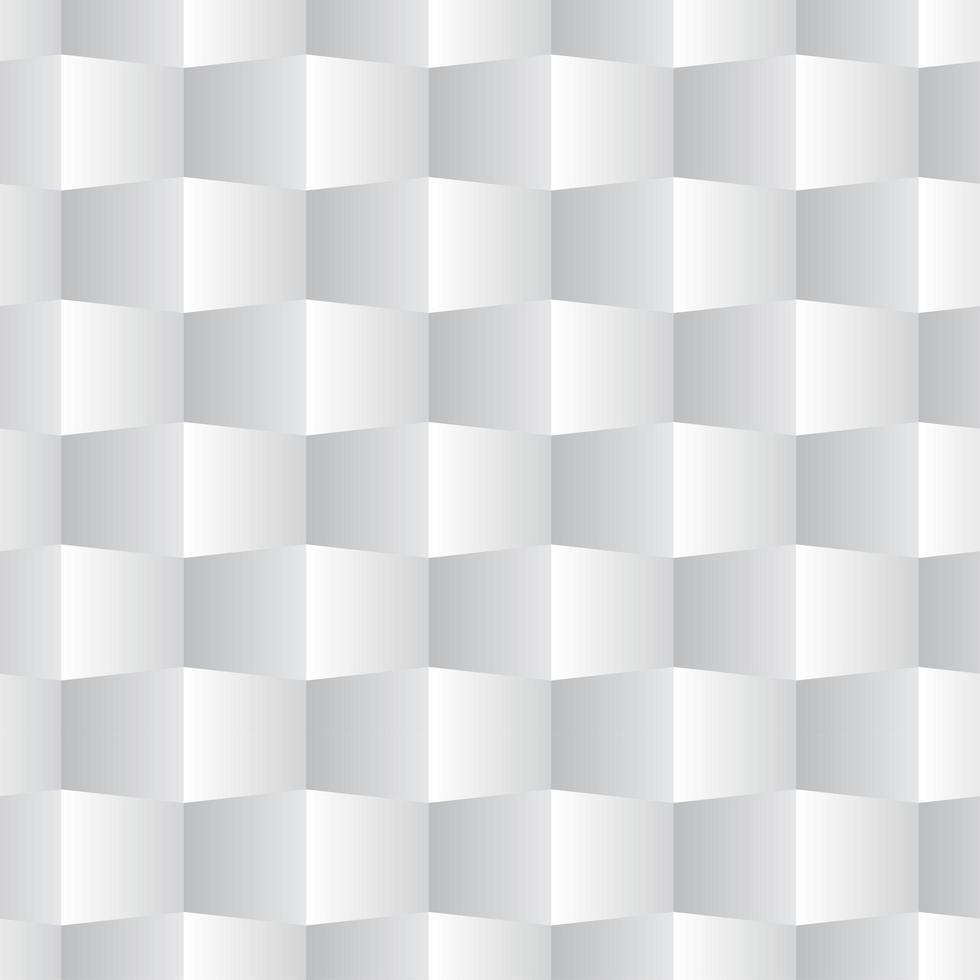 modèle sans couture carré 3d blanc vecteur