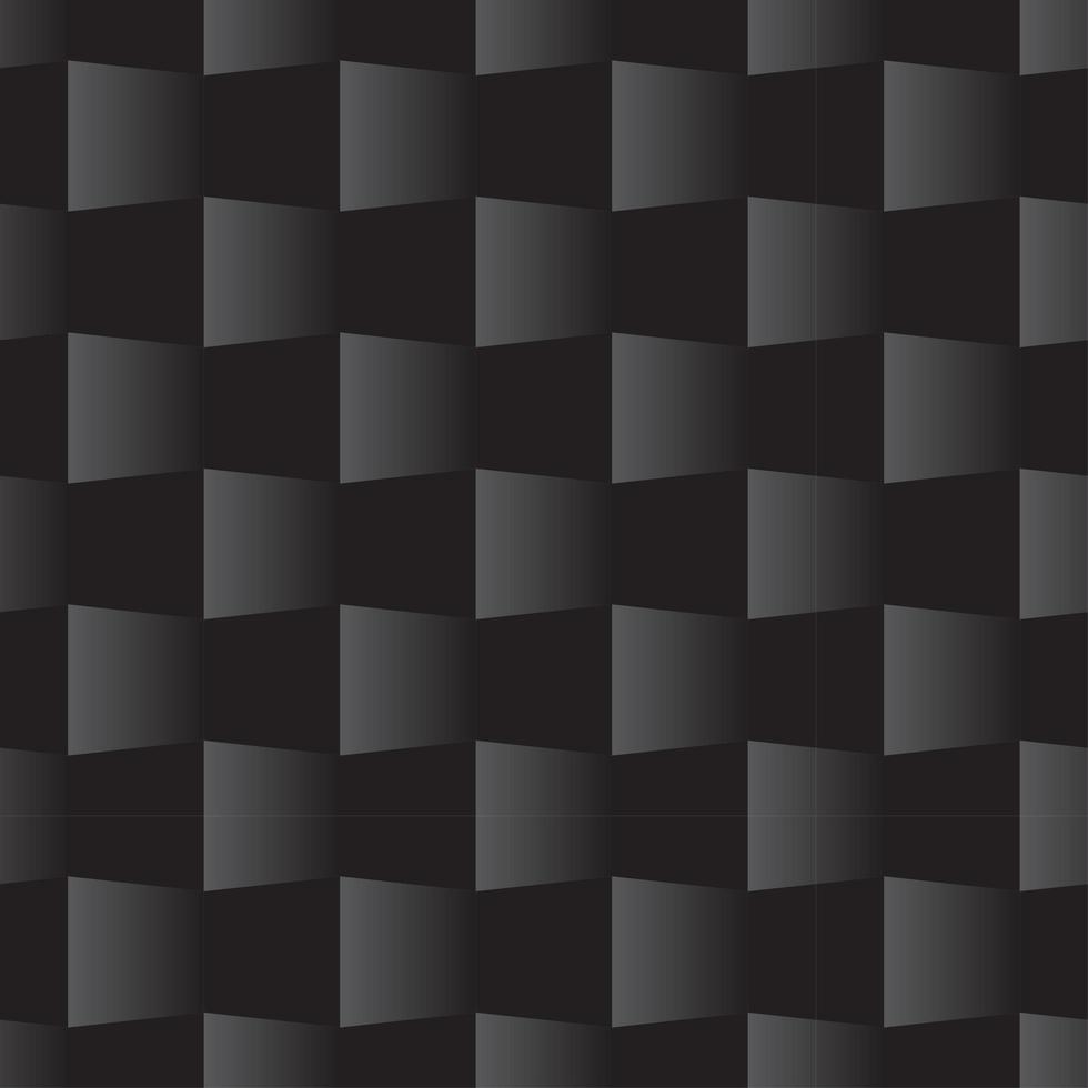 modèle sans couture carré 3d noir vecteur