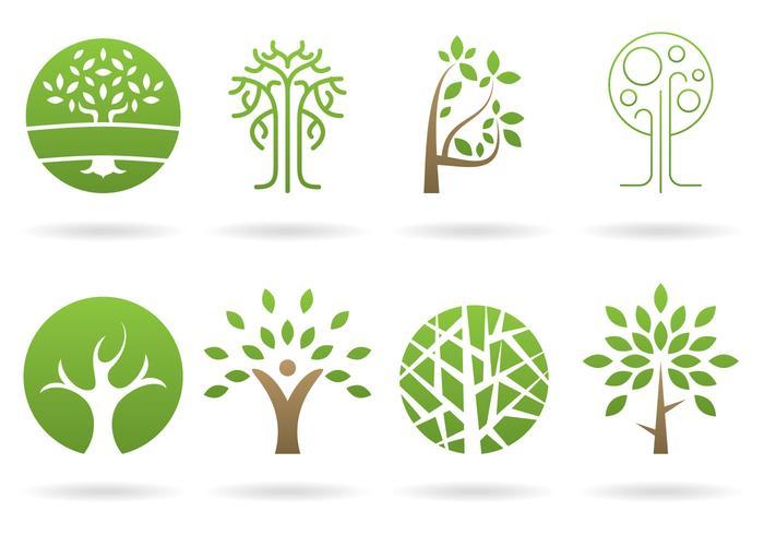 Vecteurs de logos d'arbres vecteur