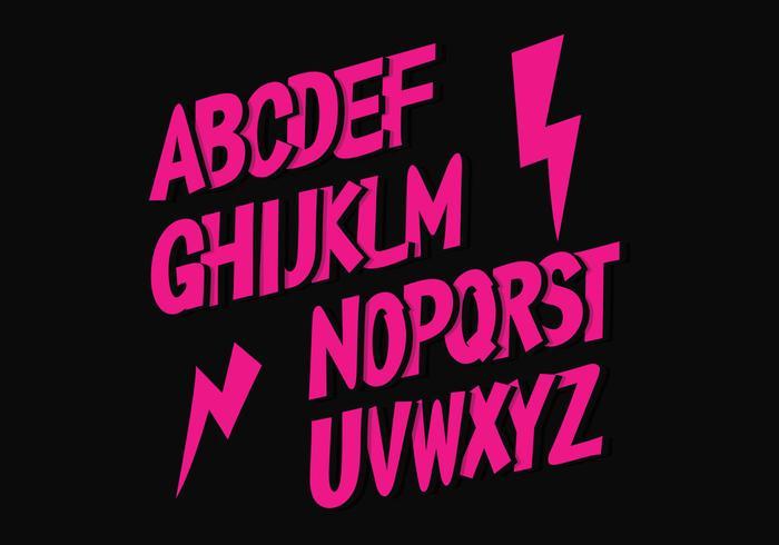 Alphabet de vecteur gratuit