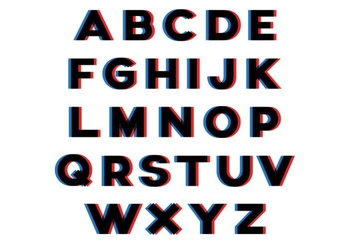 Alphabet Effet 3D vecteur
