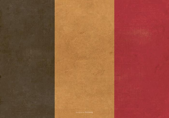 Drapeau grunge de la Belgique vecteur