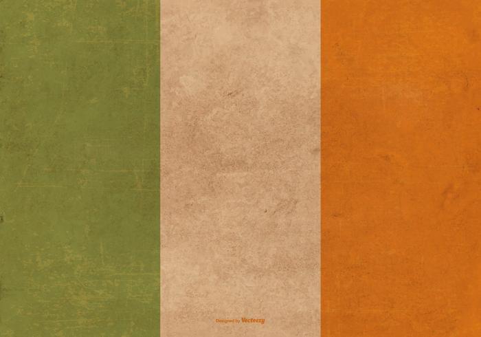Drapeau grunge de l'Irlande vecteur