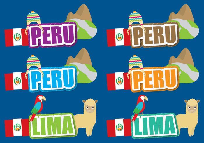 Titres du Pérou vecteur