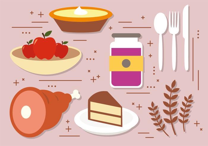 Décoration vectorielle gratuite de Thanksgiving vecteur