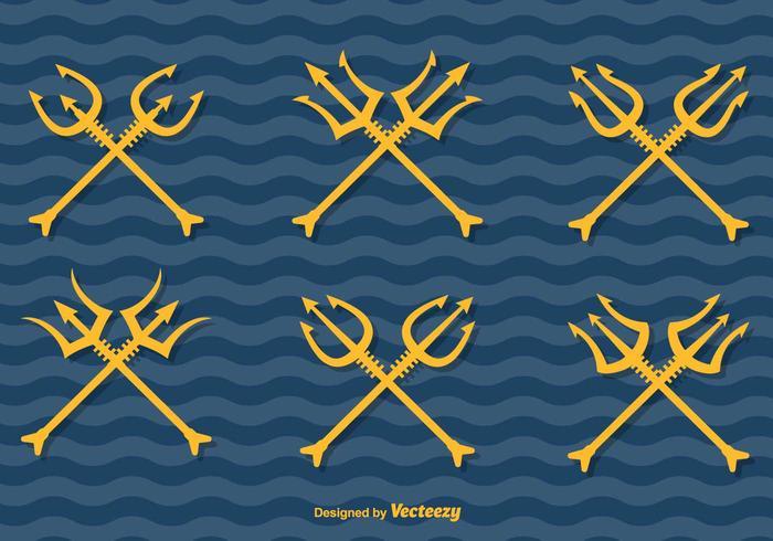 Poseidon vecteur tridents
