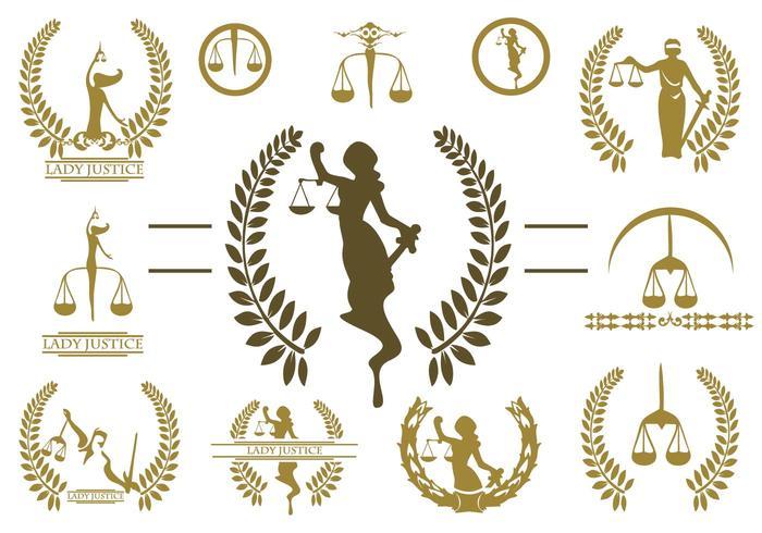 Vecteur libre logo de la femme justice