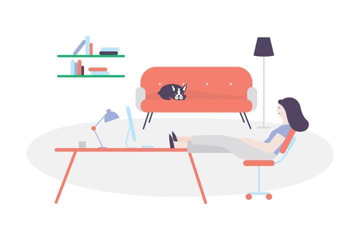 Illustration de l'espace de travail vecteur