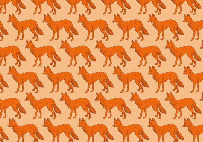 Motif de renard d'orange vecteur