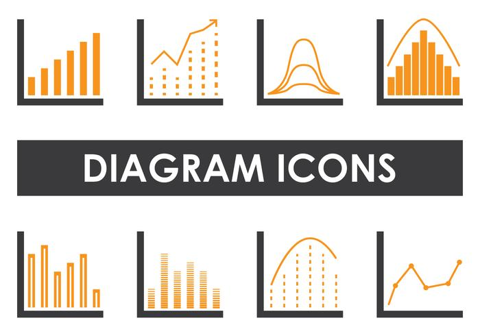Icônes de diagramme vecteur