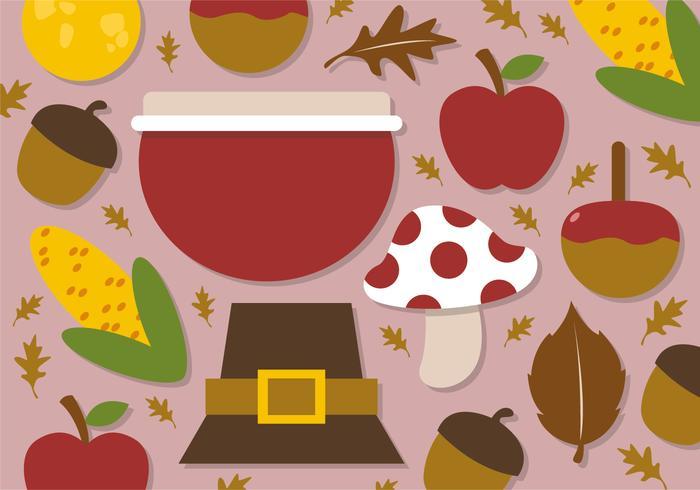 Éléments plats d'automne plats gratuits vecteur