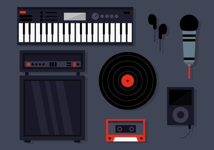 DJ Instruments Instruments de Musique vecteur