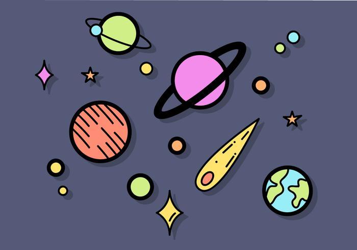 Vecteur planètes gratuit