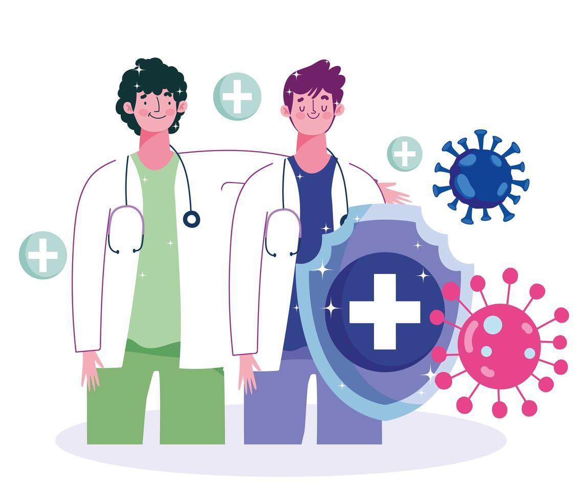 médecins masculins et virus vecteur