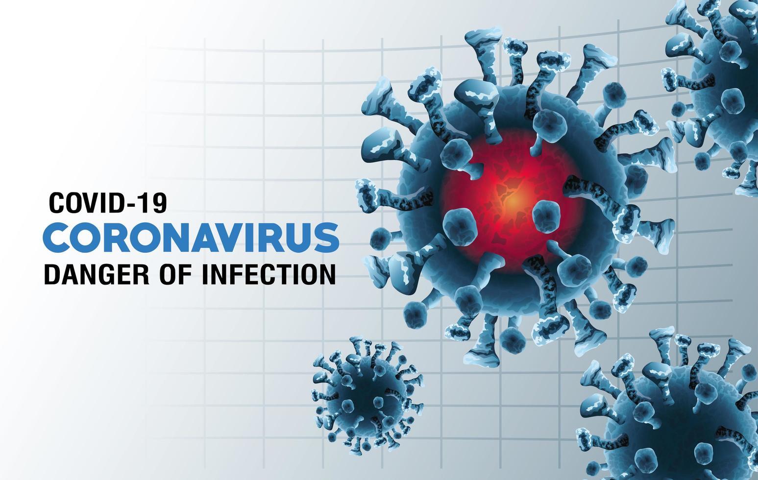 particules pandémiques de covid-19 vecteur