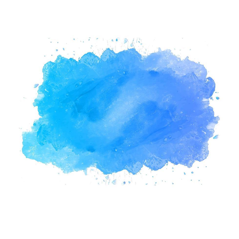 fond de splash de peinture aquarelle bleue vecteur