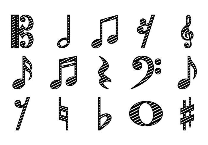 Vecteur d'icône gratuite de note musicale