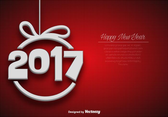 Résumé Fond d'écran élégant pour la célébration du nouvel an de 2017 vecteur