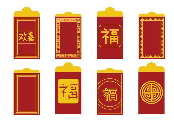 Vecteur paquet rouge