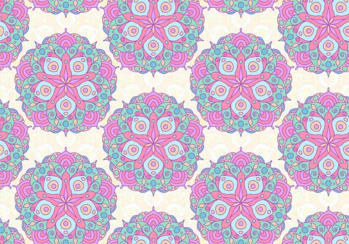 Modèle coloré de mandala coloré rose vecteur