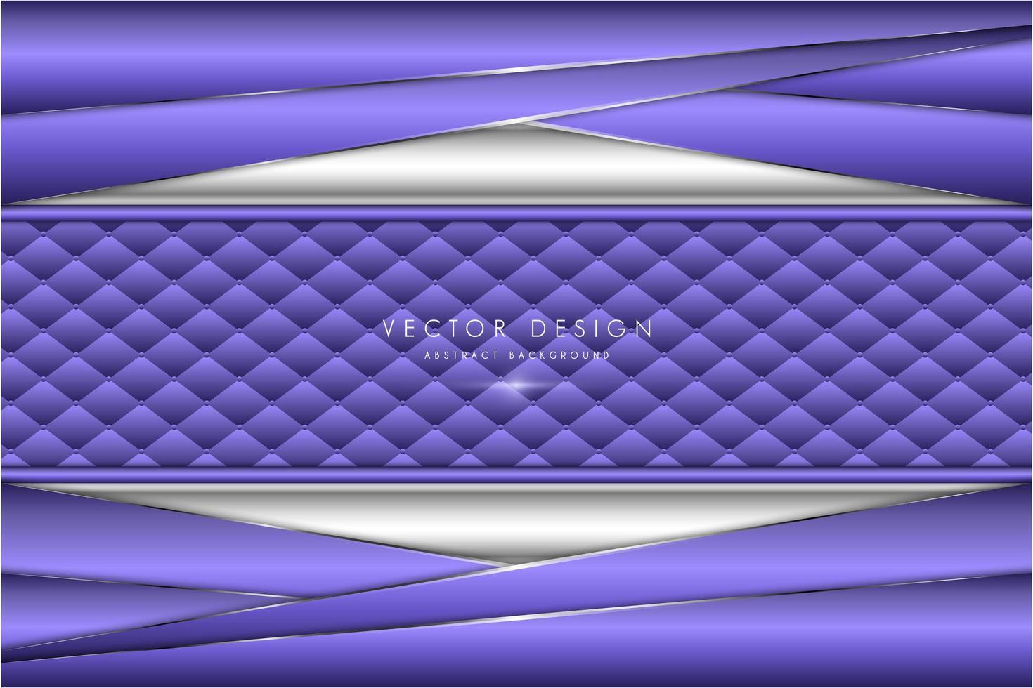 plaques métalliques violettes et argent à angle avec texture de rembourrage vecteur