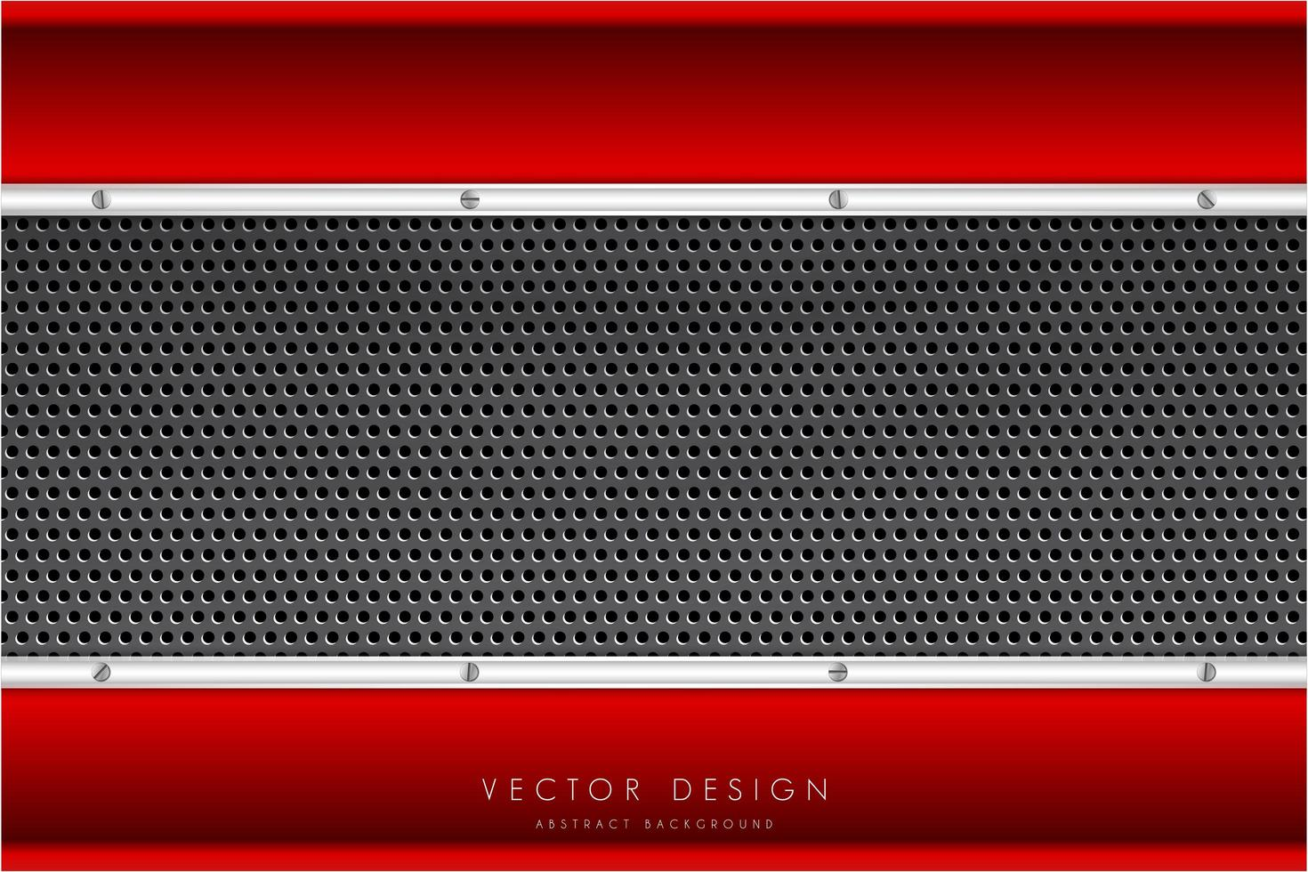 bordures métalliques rouges et argentées et texture en fibre de carbone vecteur