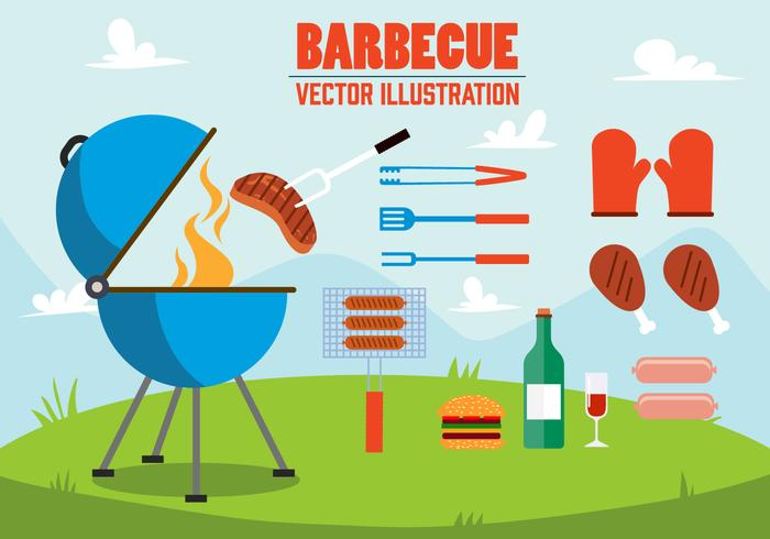 Illustration Barbecue gratuit vecteur