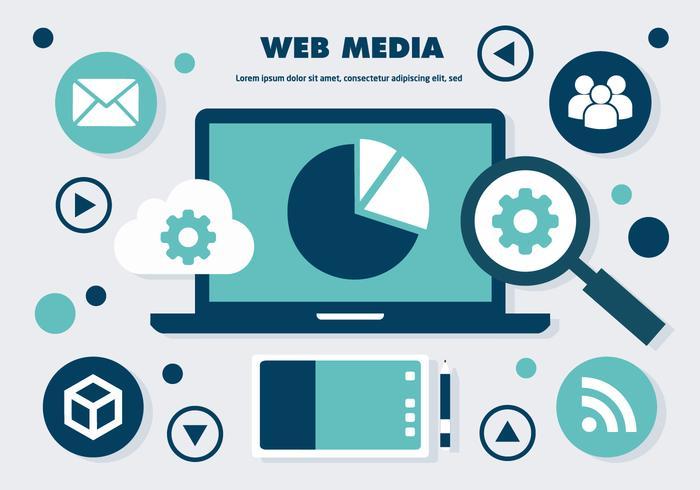 Éléments vectoriels gratuits des médias sociaux sur le Web vecteur