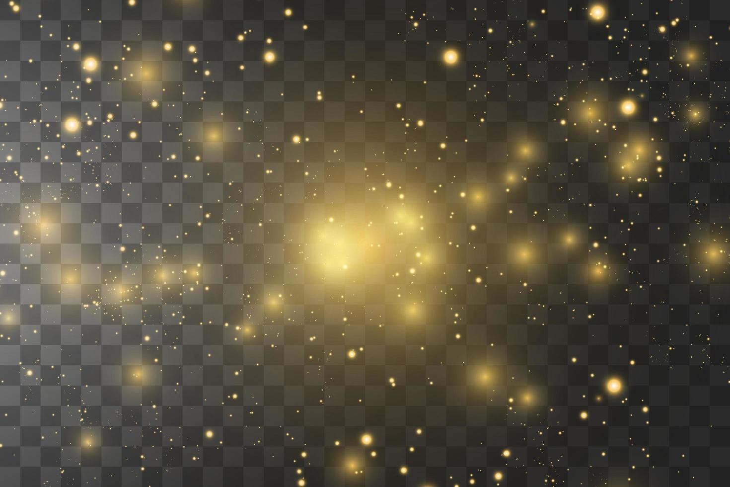 étoiles dorées brillantes vecteur